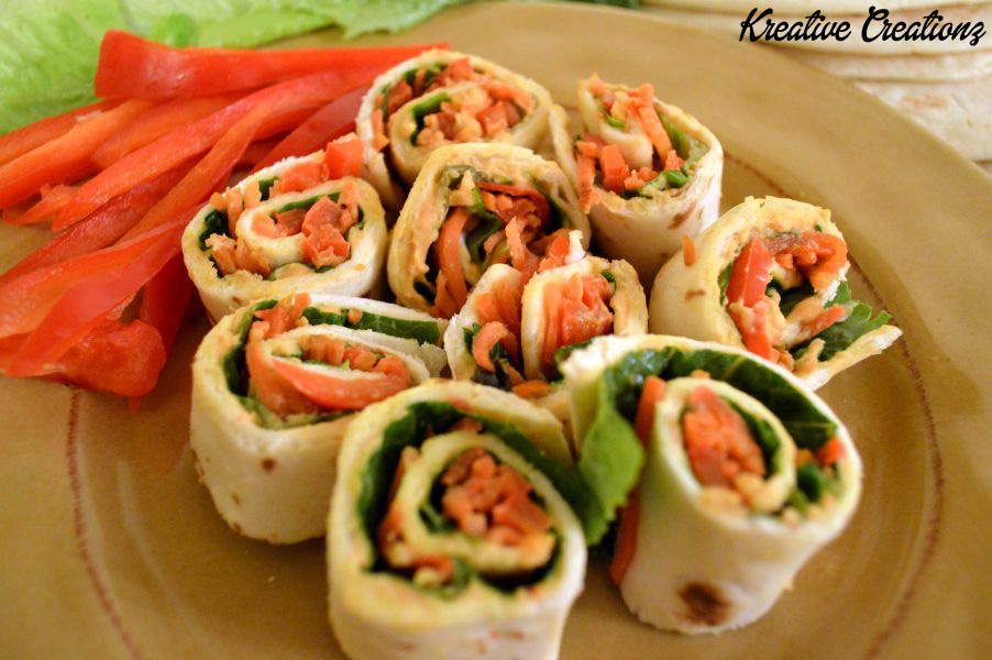 Hummus and Veggie Roll