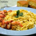 Parmesan Crusted Shrimp with Fettuccine