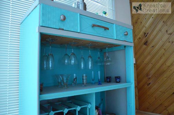 Antique Dresser Into Sunroom Bar Redo - The Kreative Life