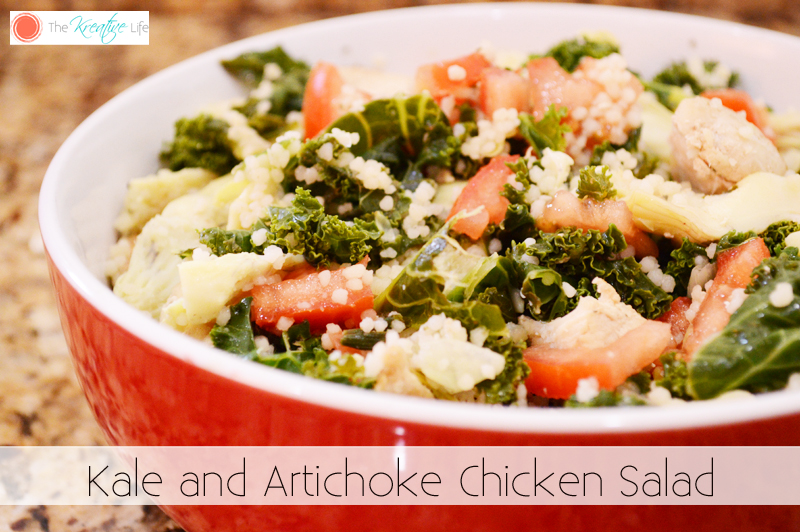 Kale and Artichoke Chicken Salad - The Kreative Life