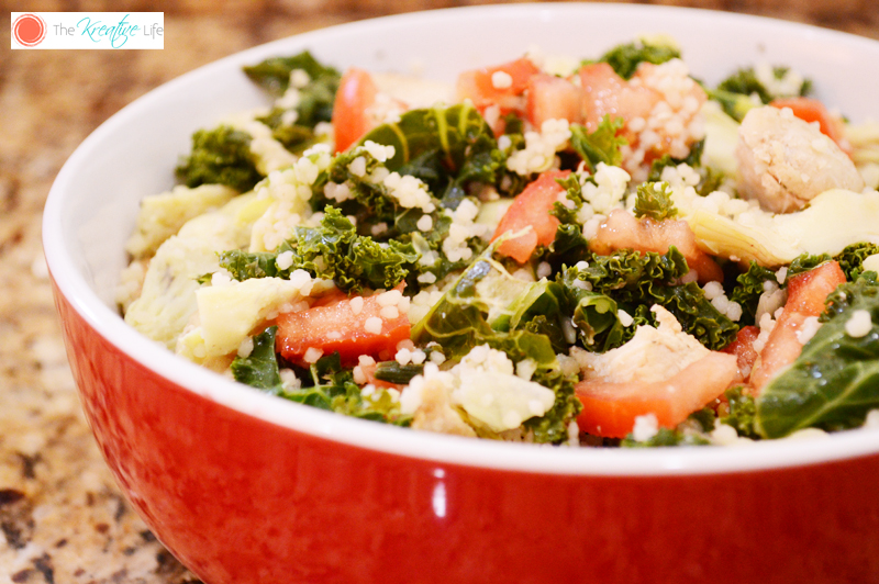 Kale and Artichoke Chicken Salad