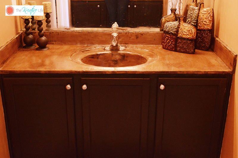 DIY Acid Stain Concrete Countertops - The Kreative Life