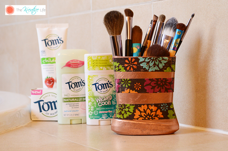 DIY Beauty Brush Holder with Tom's of Maine