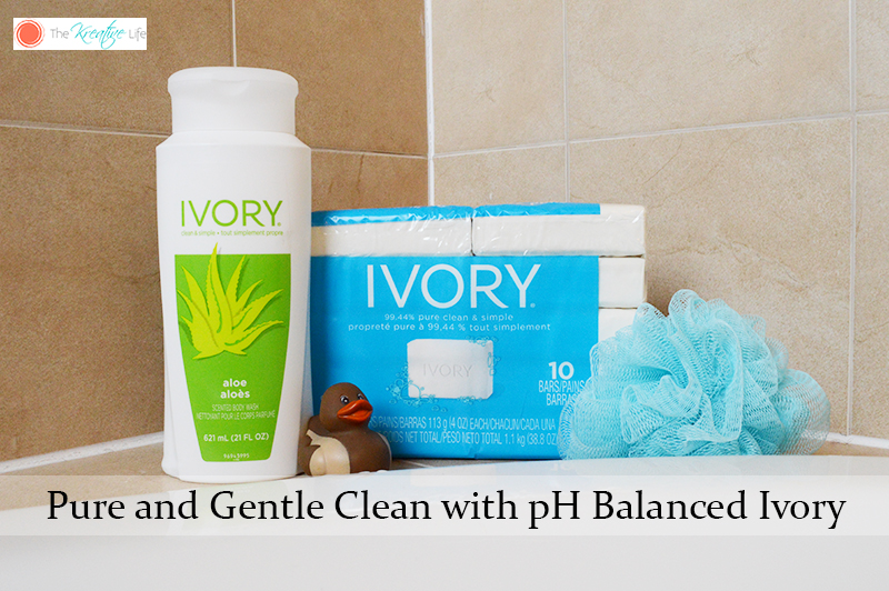 Pure and Gentle Clean with pH Balanced Ivory - The Kreative Life