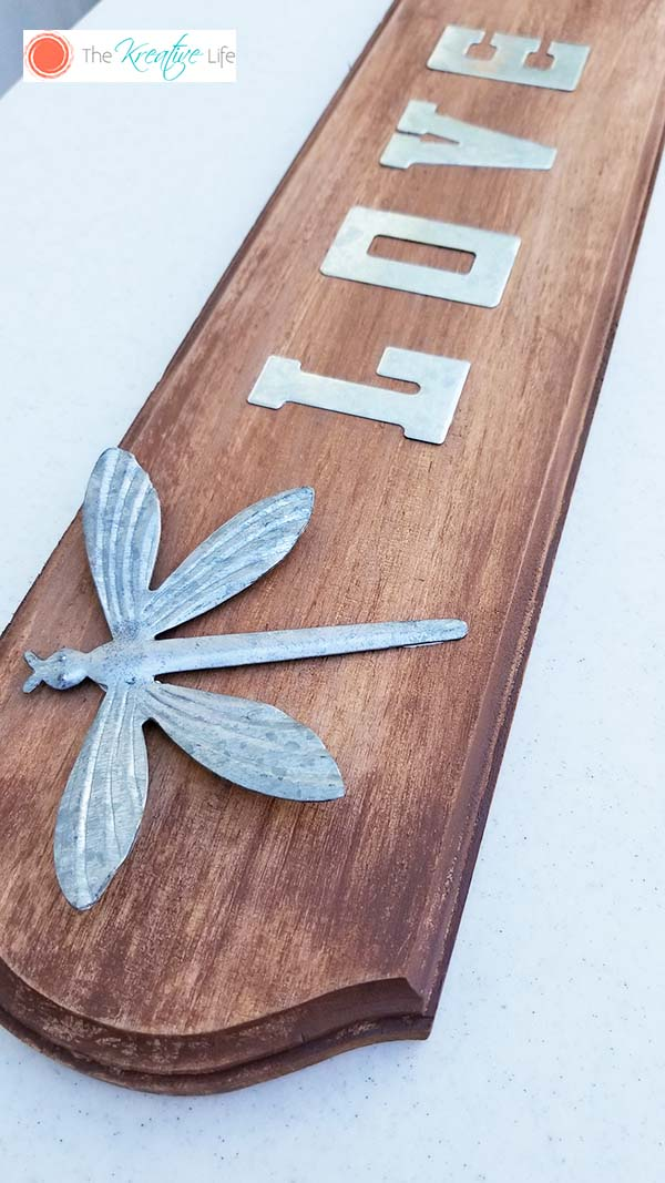 Faux Stained Wood Plaque - The Kreative Life