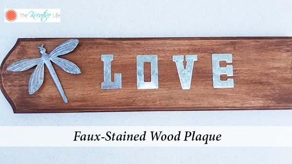 Faux Stained Wood Plaque