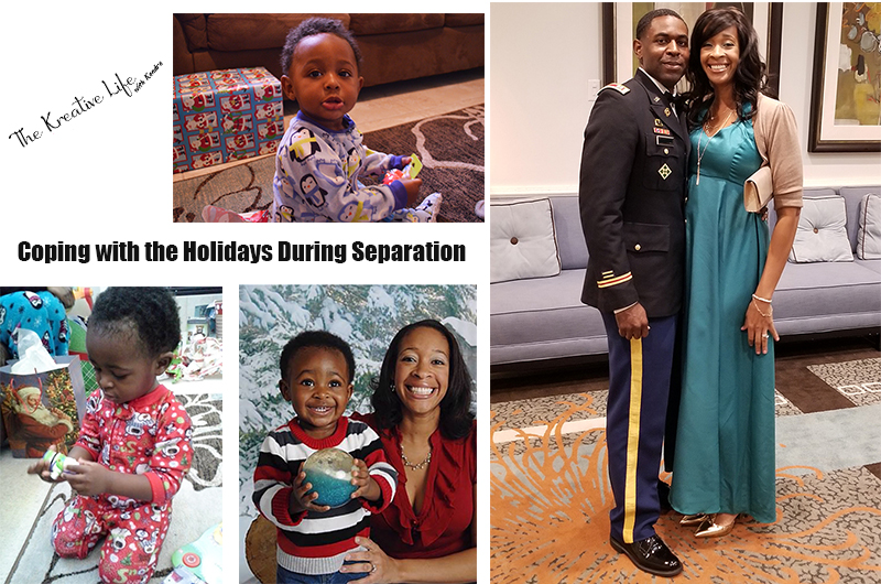 The stress of the holidays may have you feeling a little down, especially if you're away from your loved ones. Since we're a military family, I've learned a few things about coping with the holidays during separation that helped me through some hard times. - The Kreative Life