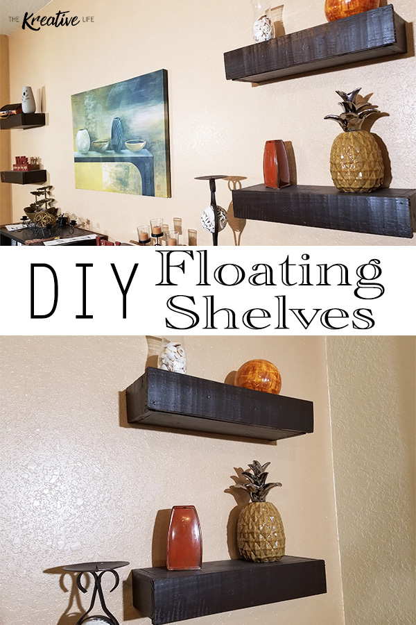 These diy floating shelves are sure to add a personal touch to your home decor. Learn how to make floating shelves with this easy step-by-step tutorial. - The Kreative Life