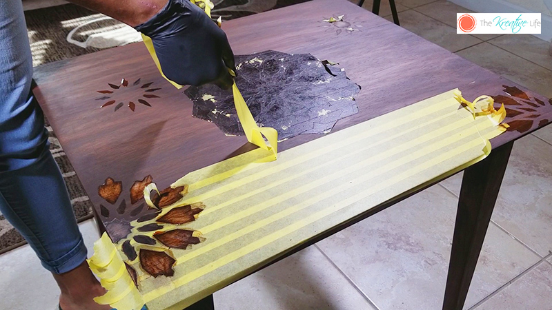 Decorative DIY Wood Stain Table - The Kreative Life