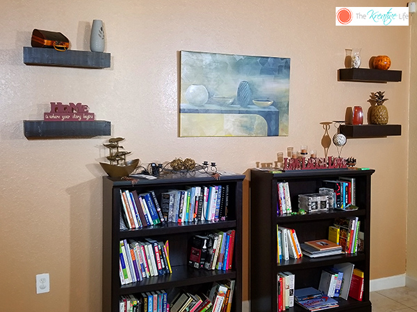 DIY Floating Shelves - The Kreative Life