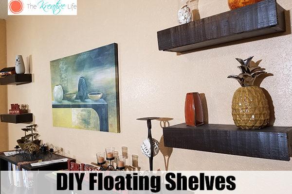 DIY Floating Shelves - The Kreative Life