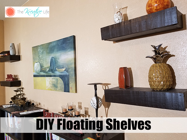 DIY Floating Shelves Solid Wood
