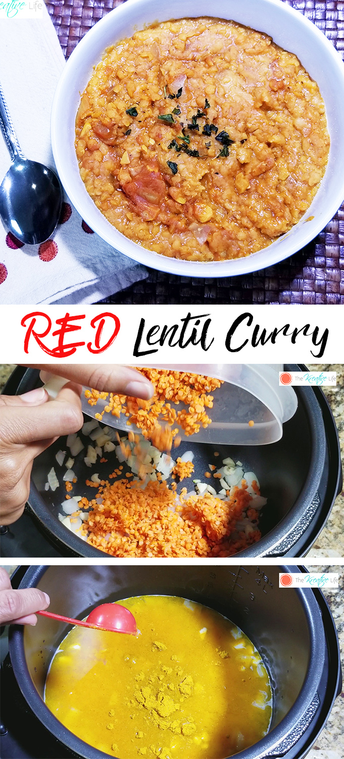 Red Lentil Curry - The Kreative Life