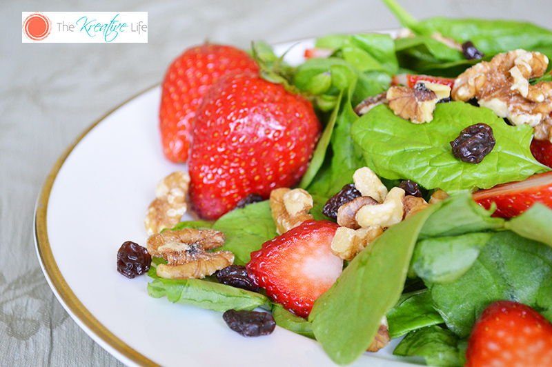 Strawberry Spinach Salad - The Kreative Life