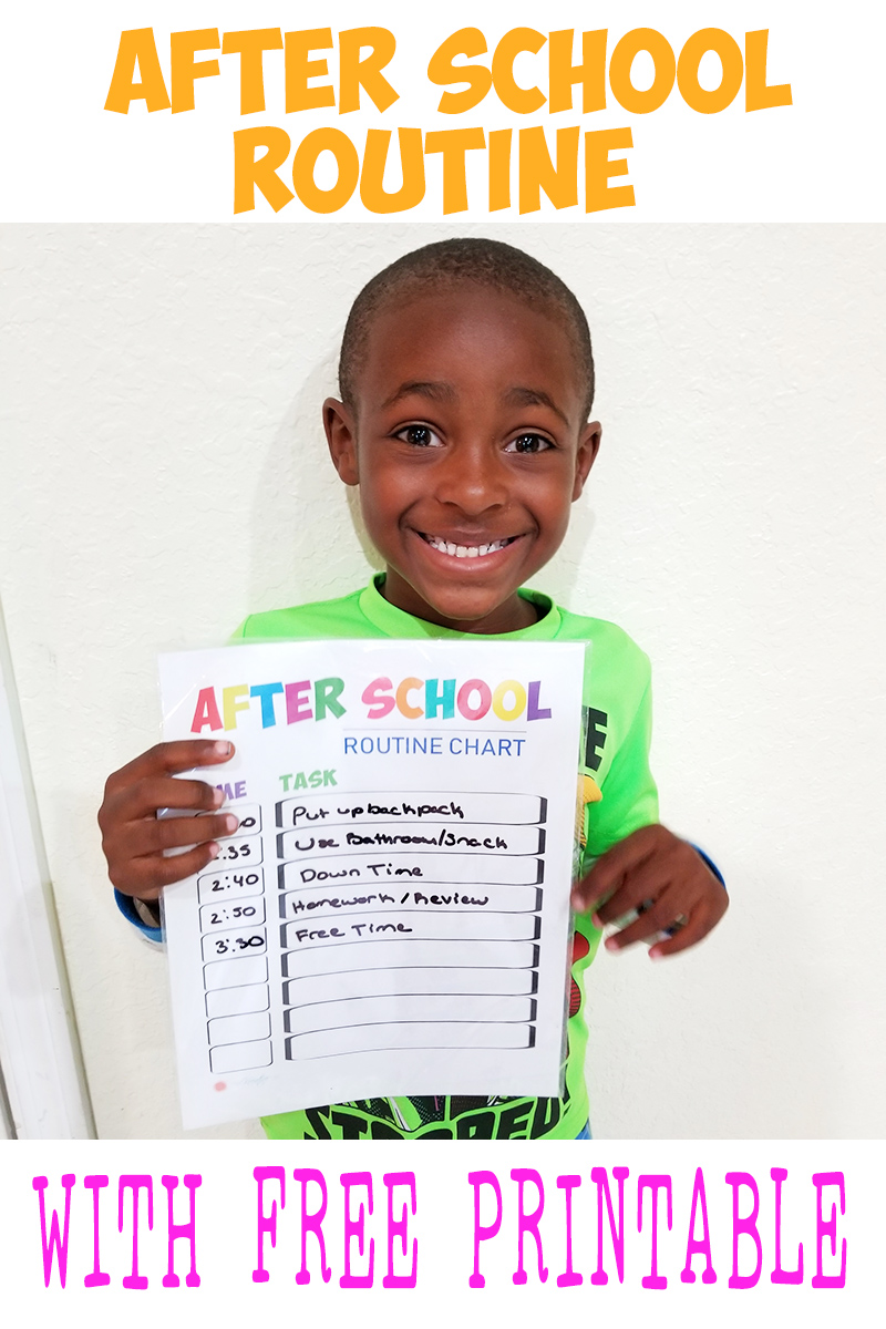 After School Routine Chart Printable - The Kreative Life