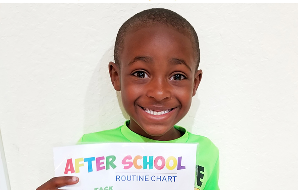 FREE Customizable After School Routine Chart to keep your little one on track- The Kreative Life