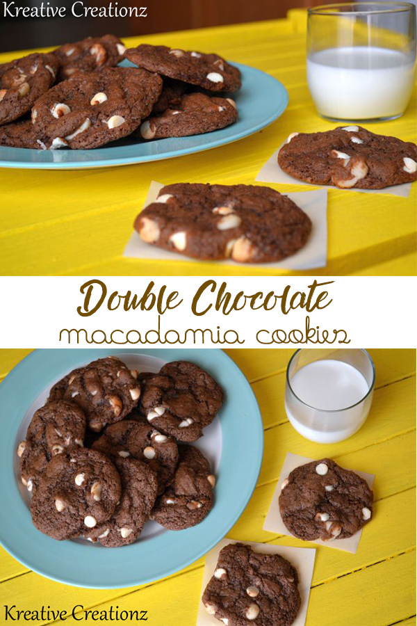 This Double Chocolate Macadamia Cookie is the best macadamia nut cookie you'll ever taste. This chocolate macadamia nut cookie recipe will leave you craving for more. - The Kreative Life