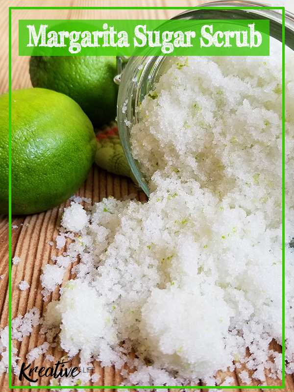 A margarita sugar body scrub that will leave your skin feeling soft, smooth, and rejuvenated! This margarita body scrub recipe is easy to make and isn't at all stick, unlike other homemade margarita sugar scrub recipes you'll find. Enjoy your homemade diy margarita scrub in the comfort of your own home. - The Kreative Life