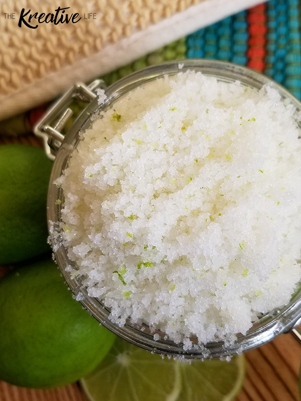 Homemade Margarita Sugar Scrub