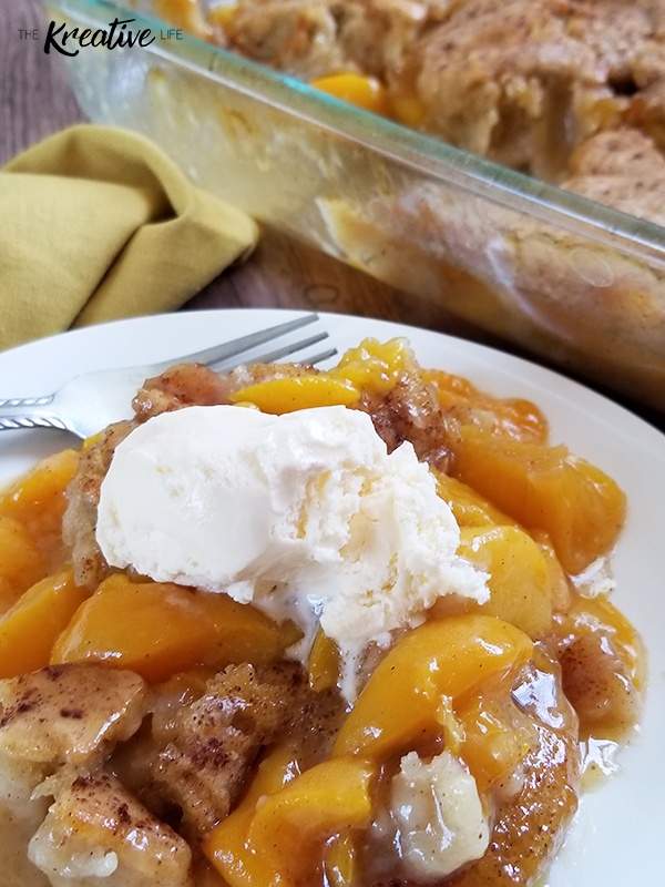 Peach Cobbler Recipe - The Kreative Life