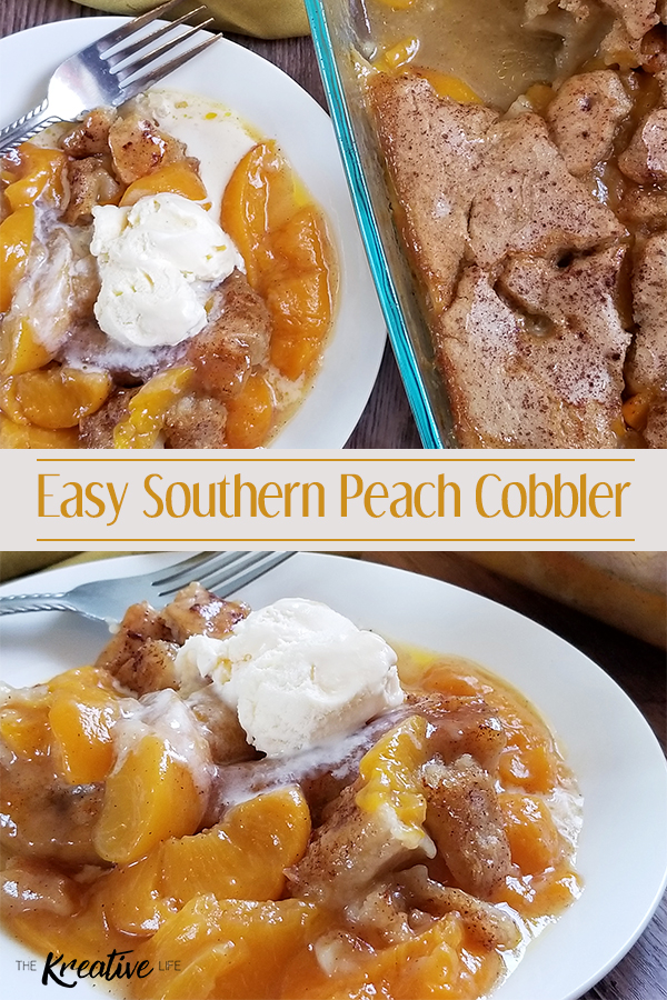Easy Southern Peach Cobbler Recipe - The Kreative Life