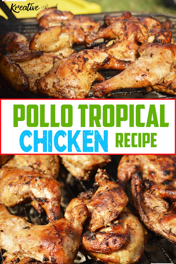 A tasty Caribbean chicken inspired Pollo Tropical Chicken recipe with tropic pollo marinade to cook on the grill.