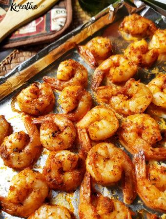 Baked Cajun Shrimp - The Kreative Life