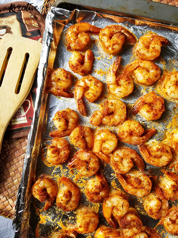 Baked Cajun Shrimp - The Kreative Life